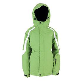 Куртка горнолыжная детская Campus Rockland junior зелено-черно-белая
