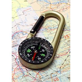 Компас-карабин большой Экспедиция «Нас невозможно сбить с пути»