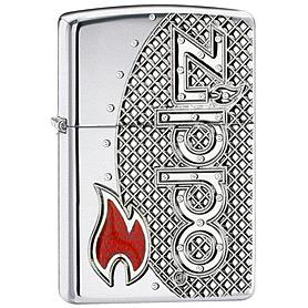 Фото 1 к товару Зажигалка Zippo Flame Emblem Armor High Polish Chrome 24801