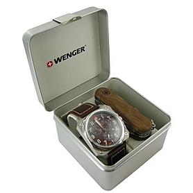 Фото 3 к товару Набор Wenger часы 77014 + нож 1.17.09.830