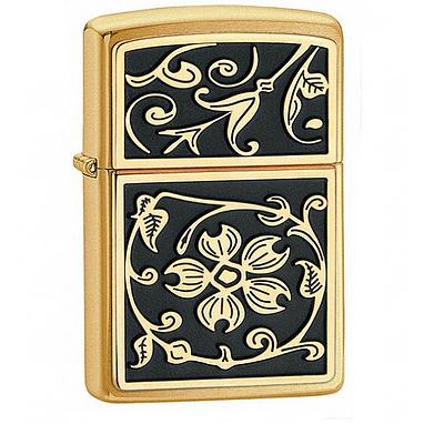 Зажигалка 204B Zippo Gold Floral Flourish
