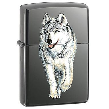 Зажигалка 150 Zippo Wolf Black Ice