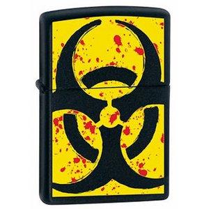 Зажигалка Zippo 218 Hazardous black matte