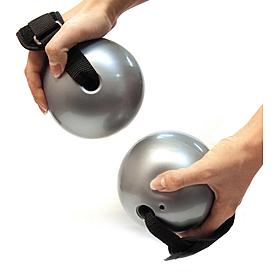 Фото 1 к товару Мячи-утяжелители для фитнеса 2 шт по 1,5 фунта Toning ball