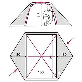 Фото 3 к товару Палатка двухместная Terra incognita Omega 2 песочная