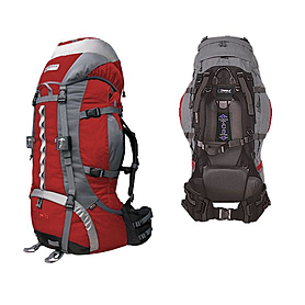 Фото 2 к товару Рюкзак туристический Terra Incognita Vertex Pro 80 красно-серый + подарок