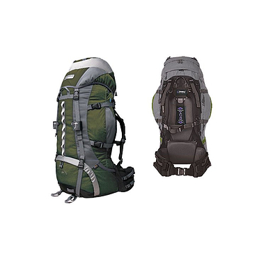Рюкзак туристический Terra Incognita Vertex Pro 80 зелено-серый