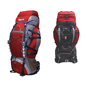 Рюкзак треккинговый Terra Incognita Trial Pro 75 красно-серый