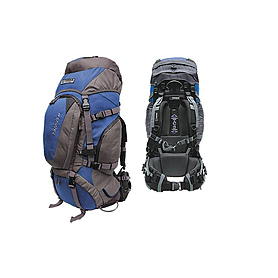 Фото 2 к товару Рюкзак туристический Terra Incognita Discover 55 сине-серый + подарок