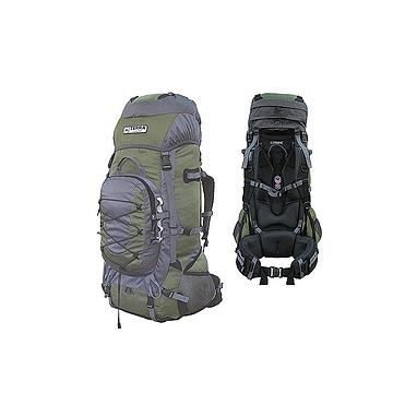Рюкзак туристический Terra Incognita Fronter 90 зелено-серый