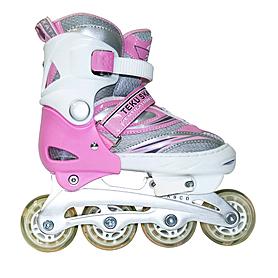 Коньки роликовые раздвижные Teku Skate TK-9337 розовые