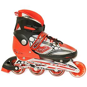 Коньки роликовые раздвижные Teku Skate TK-S6-001 красные