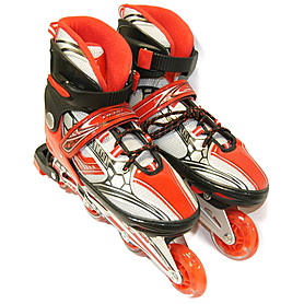 Фото 2 к товару Коньки роликовые раздвижные Teku Skate TK-S6-001 красные