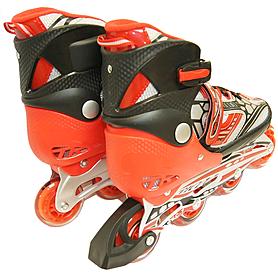 Фото 3 к товару Коньки роликовые раздвижные Teku Skate TK-S6-001 красные