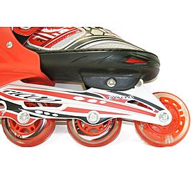 Фото 4 к товару Коньки роликовые раздвижные Teku Skate TK-S6-001 красные