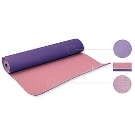 Фото 1 к товару Йога-мат ТРЕ+TC 6 мм фиолетовый