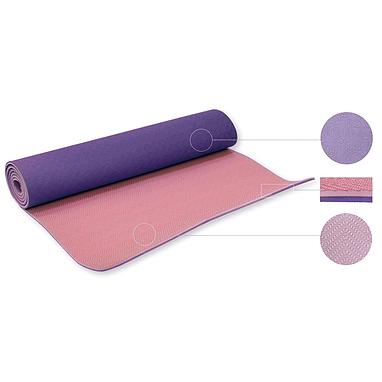 Йога-мат ТРЕ+TC 6 мм фиолетовый