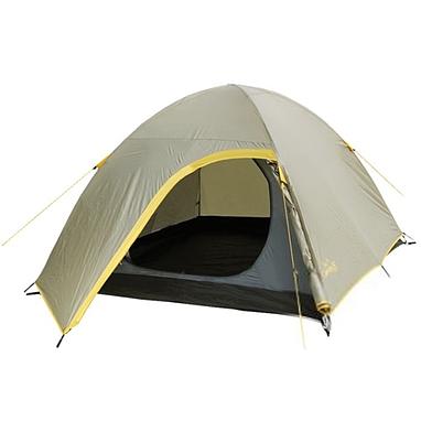 Палатка двухместная с тамбуром Campus R00191 бежево-желтая