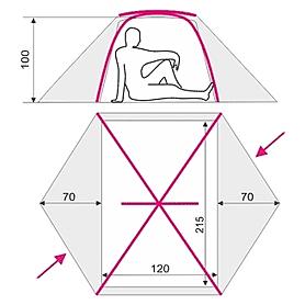 Фото 3 к товару Палатка двухместная Terra Incognita SkyLine 2