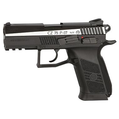 Пистолет пневматический ASG CZ 75 P-07 Blowback 4,5 мм вставка никель