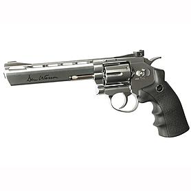 Фото 1 к товару Револьвер пневматический ASG Dan Wesson 6'' Silver 4,5 мм