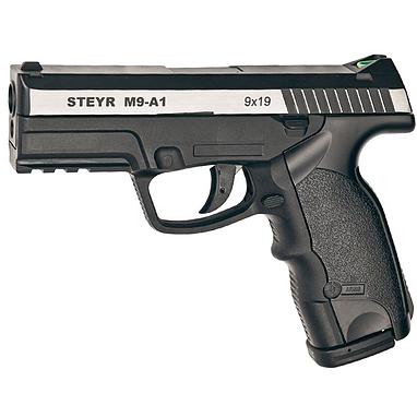 Пистолет пневматический ASG Steyr M9-A1 4,5 мм вставка никель