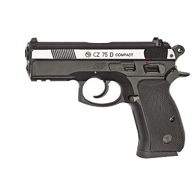 Пистолет пневматический ASG CZ 75D Compact 4,5 мм вставка никель