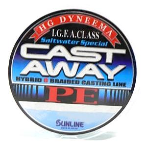 Шнур Sunline Cast Away PE 150м 1.0/0.165мм 16LB/7.5кг