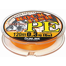 Шнур Sunline Rock Fish PE 120м 0.3/0.09мм 6LB/2.9кг