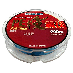 Фото 1 к товару Шнур Sunline S-Cast PE Nagi Kyogi 200м 3/0.285мм 20.9кг