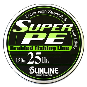 Шнур Sunline Super PE 150м 0.26мм 25LB/11.3кг белый