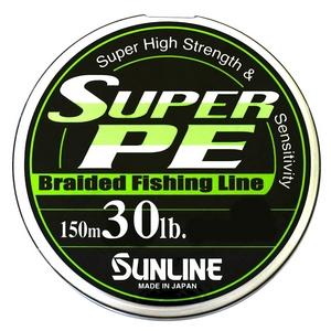 Шнур Sunline Super PE 150м 0.285мм 30LB/13.6кг салатовый