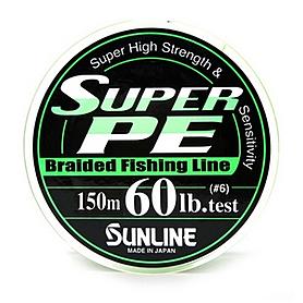 Шнур Sunline Super PE 150м 0,405мм 60Lb/27,2кг темно-зеленый