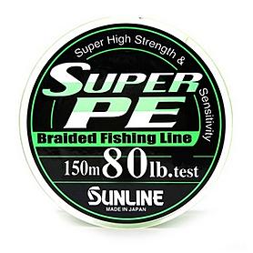 Фото 1 к товару Шнур Sunline Super PE 150м 0,47мм 80Lb/36,32кг темно-зеленый