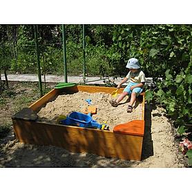 Фото 3 к товару Песочница деревянная для детей