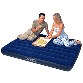 Фото 2 к товару Матрас надувной двуспальный Intex 68759 (152х203х22 см)