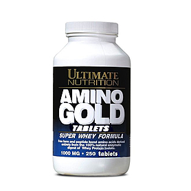 Фото 1 к товару Аминокомплекс Ultimate Nutrition Amino Gold Tablets (250 таблеток)