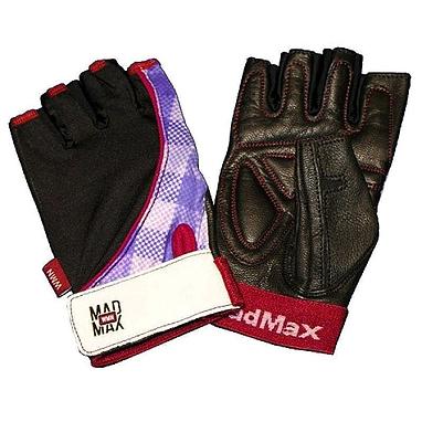 Перчатки спортивные женские Mad Max Nine-Eleven MFG 911 черно-красные