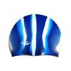 Шапочка для плавания Spurt Zebra силиконовая темно-синяя с белым - фото 1