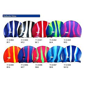 Фото 2 к товару Шапочка для плавания Spurt Zebra силиконовая зеленая с синим