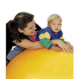 Фото 2 к товару Мяч гимнастический (фитбол) 85 см Togu Pushball ABS желтый