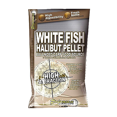 Бойлы Starbaits White Fish Halibut Pellets (14 мм, 1 кг)