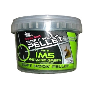 Пелетс Sensas IM5 Betaine green soft hooker (900 г, 6 мм)