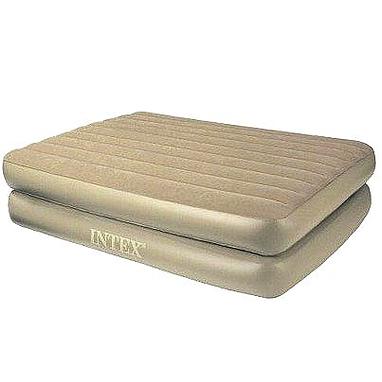 Кровать надувная двуспальная Intex 66704 Rising Comfort (203х152х48 см)