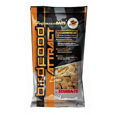 Бойлы Starbaits Birdfood attract Gingerbread имбирь 14 мм 1 кг