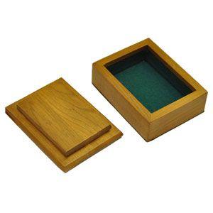 Деревянная шкатулка для карт (ручная работа)