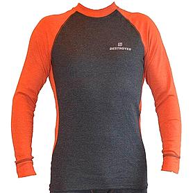 Футболка мужская с длинным рукавом Destroyer Outdoor Trekking (серая/оранжевая)
