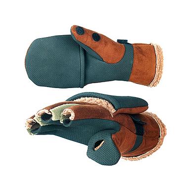 Перчатки–варежки отстегивающиеся Norfin (серо/коричневые)