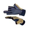 Перчатки ветрозащитные с обрезными пальцами Norfin (черные/хаки) - фото 1