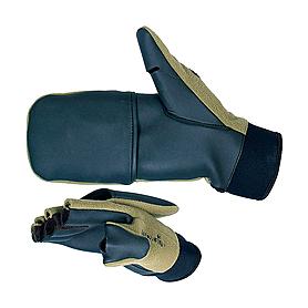 Перчатки–варежки ветрозащитные Norfin (черные/хаки)